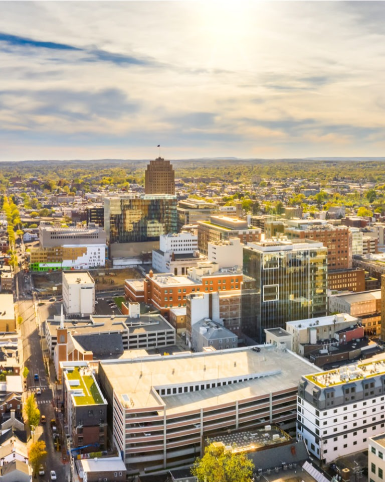 Cityscape of Allentown PA.